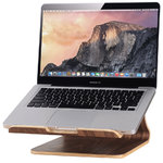 Samdi Large Wooden Desktop Holder Stand for MacBook / Laptop - Coffee